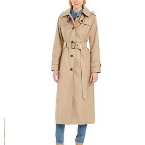 New London Fog Maxi trench coat with button liner